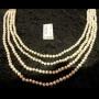 Perlenkette, 4-reihig