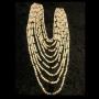 Perlenkette, 10-reihig bunt